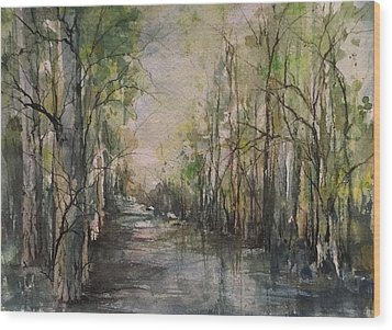 Bayou Liberty Wood Print by Robin Miller-Bookhout
