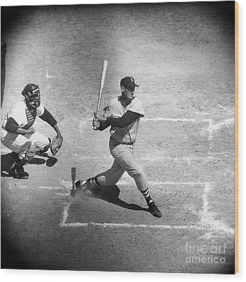 Ted Williams (1918-2002) Wood Print by Granger