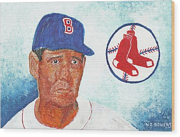 Ted Williams Wood Print by William Bowers