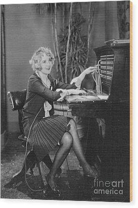 Telephone Exchange, 1920s Wood Print by Granger