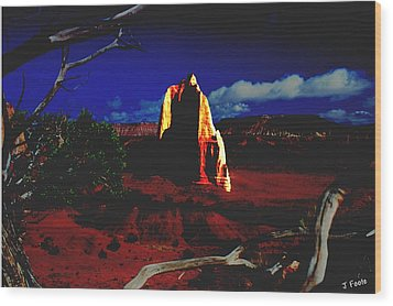 Temple Of The Moon 2 Wood Print