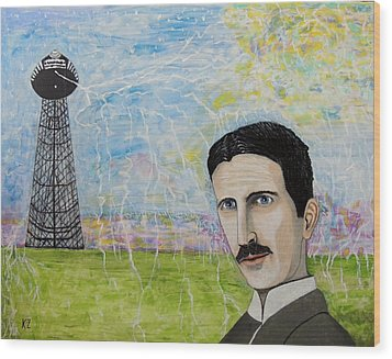 Tesla's Tower. Wood Print by Ken Zabel