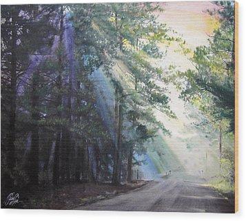 Texas Morning Wood Print by Tess Lee