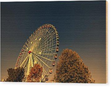 Texas Star Ferris Wheel Wood Print