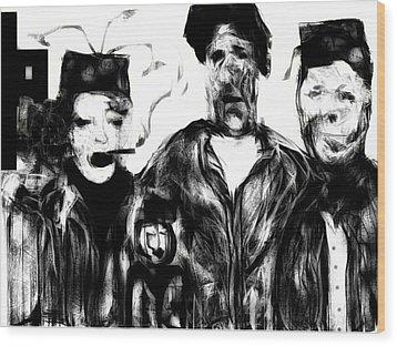 The Actors Wood Print