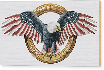 The American Eagle Wood Print by Dag Peterson