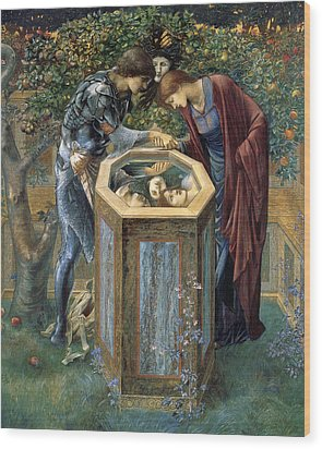 The Baleful Head Wood Print by Edward Burne-Jones
