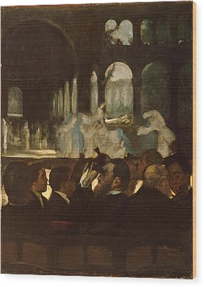 Wood Print featuring the painting The Ballet From Robert Le Diable by Edgar Degas