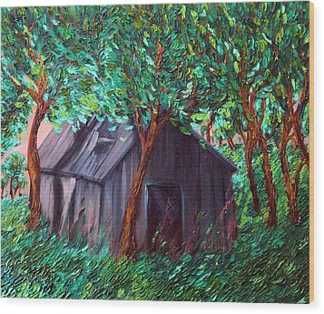 The Barn Wood Print by Felix Concepcion