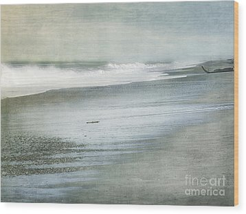 The Beach Wood Print by Linde Townsend