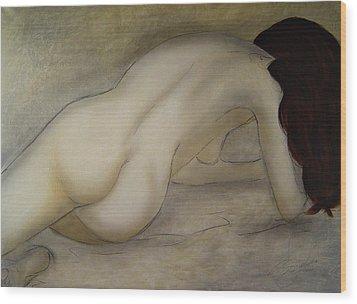 The Beauty Of Quiet Wood Print by Bridgette  Allan