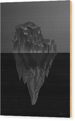The Black Iceberg Wood Print