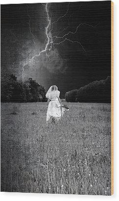 The Bride Wood Print by Joana Kruse