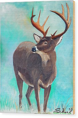 the Buck Stops Here Wood Print