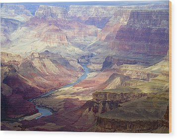 The Colorado River And The Grand Canyon Wood Print by Annie Griffiths