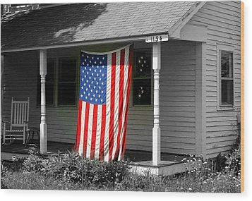The Colors Of Freedom Wood Print by Linda Galok