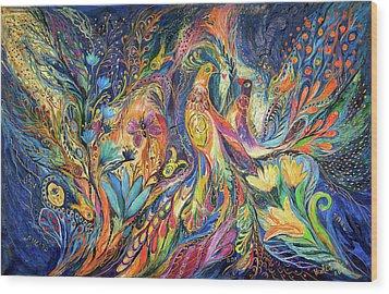 The Dance Of Oranges Wood Print by Elena Kotliarker