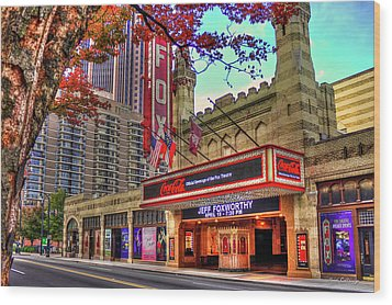 The Fabulous Fox Theatre Atlanta Georgia Art Wood Print by Reid Callaway