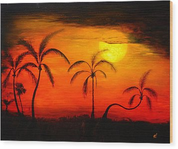 The Florida Sun Wood Print by Monty Perales