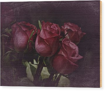 Wood Print featuring the photograph The Four Roses by Richard Cummings