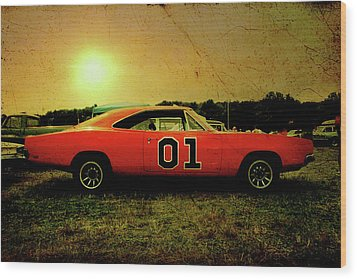 Wood Print featuring the photograph The General Lee by Joel Witmeyer