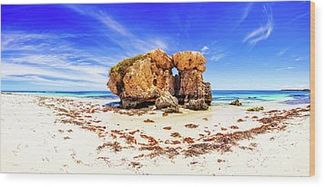 Wood Print featuring the photograph The Sentry, Two Rocks by Dave Catley