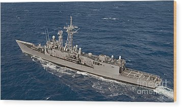 The Guided-missile Frigate Uss Reuben Wood Print by Stocktrek Images