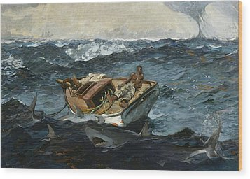 The Gulf Stream Wood Print by Winslow Homer