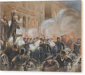 The Haymarket Riot, 1886 Wood Print by Granger