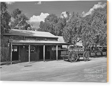 The Heritage Town Of Echuca Victoria Australia Wood Print by Kaye Menner