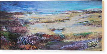 Wood Print featuring the painting The Inlet by Diane Ursin