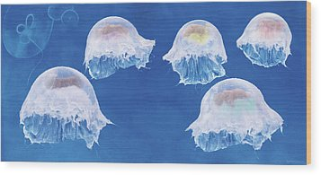 The Jellyfish Nursery Wood Print by Anne Geddes