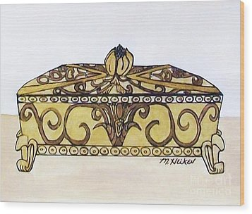 The Jewelry Box Wood Print by Marsha Heiken