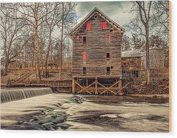The Kymulga Mill Wood Print by Phillip Burrow