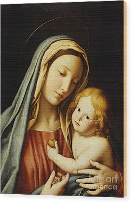 The Madonna And Child Wood Print by Il Sassoferrato