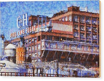 The Old C And H Pure Cane Sugar Plant In Crockett California . 5d16769 Wood Print by Wingsdomain Art and Photography