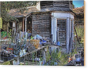The Old Shed Wood Print by David Patterson