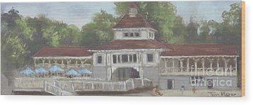 The Pavilion At Lakeside Ohio Wood Print by Terri  Meyer