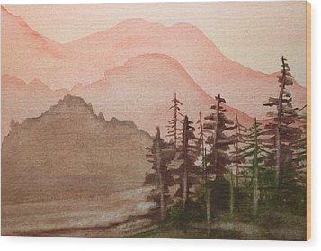 The Pine Trees Wood Print by Remegio Onia