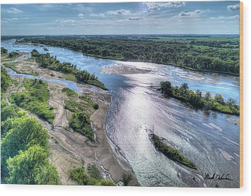 The Platte River Wood Print