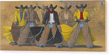 The Posse Wood Print by Lance Headlee