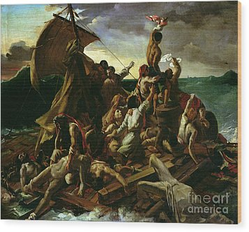 The Raft Of The Medusa Wood Print by Theodore Gericault