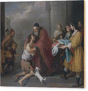 The Return Of The Prodigal Son Wood Print by Bartolome Esteban Murillo