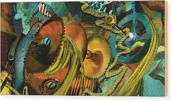 The Riotous Rope Wood Print by Anne Weirich