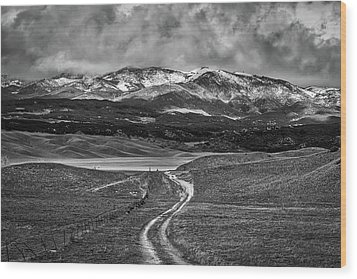 Wood Print featuring the photograph The Road That Leads You Home by Peter Tellone