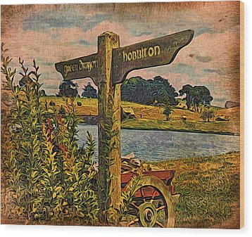 Wood Print featuring the digital art The Road To Hobbiton by Kathy Kelly