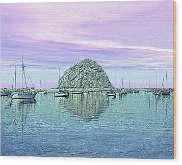 The Rock Wood Print by Kurt Van Wagner