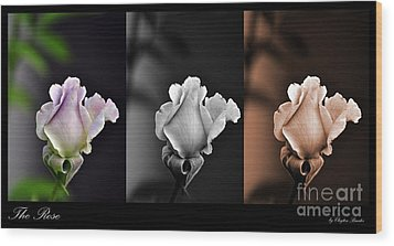 The Rose Wood Print by Clayton Bruster