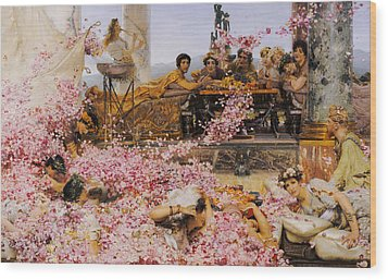 The Roses Of Heliogabalus Wood Print by Lawrence Alma-Tadema