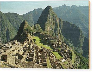 The Ruins Of Machu Picchu, Peru, Latin America Wood Print by Brian Caissie